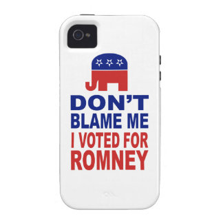 Don't Blame Me I Voted For Romney Case For The iPhone 4