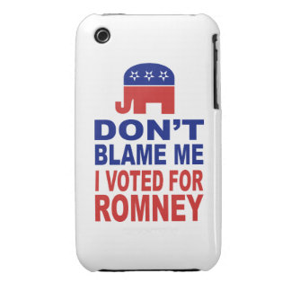 Don't Blame Me I Voted For Romney Case-Mate iPhone 3 Cases