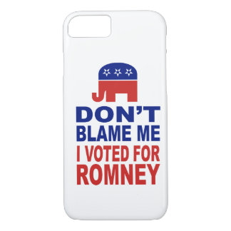 Don't Blame Me I Voted For Romney iPhone 8/7 Case