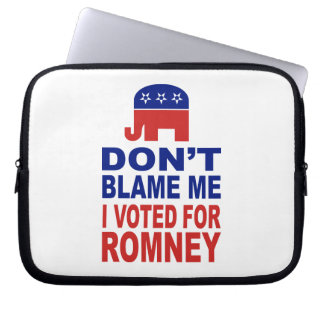 Don't Blame Me I Voted For Romney Laptop Sleeve
