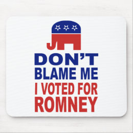 Don't Blame Me I Voted For Romney Mouse Pad