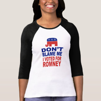 Don't Blame Me I Voted For Romney Shirt