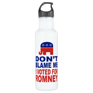 Don't Blame Me I Voted For Romney Stainless Steel Water Bottle