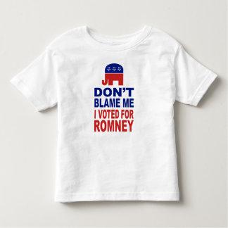Don't Blame Me I Voted For Romney Toddler T-shirt