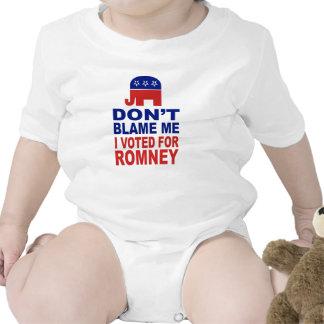 Don't Blame Me I Voted For Romney Baby Bodysuit