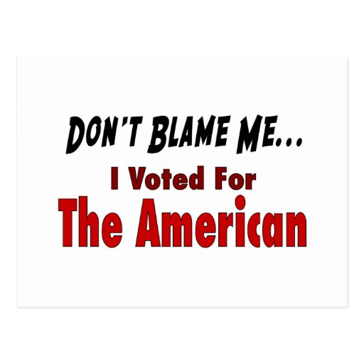 who to blame for the american When a project fails, the first step can be to figure out who to blame psychologists say this is bad for your team - and bad for business.