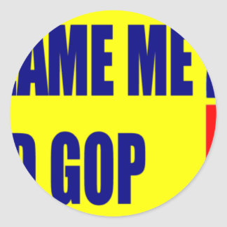 Don't Blame Me I Voted GOP Classic Round Sticker
