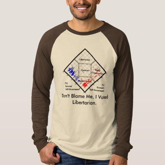 Don't Blame Me, I Voted Libertarian T-Shirt