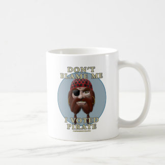 Don't Blame Me, I Voted Pirate Coffee Mug