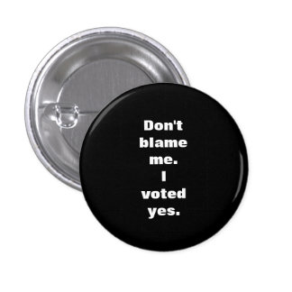 Don't Blame Me I Voted Yes Scottish Indy Badge Pinback Button