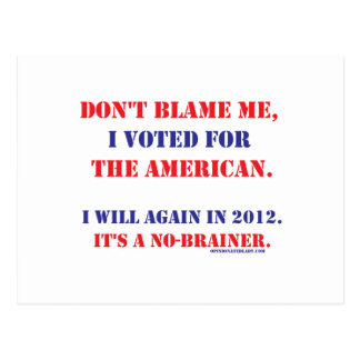 Don't Blame Me... Postcard