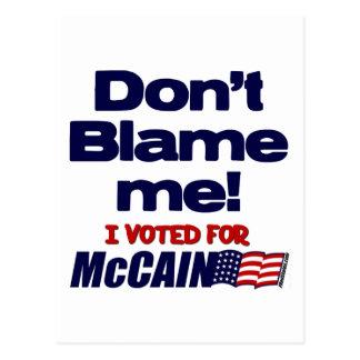 Don't Blame Me! Postcard