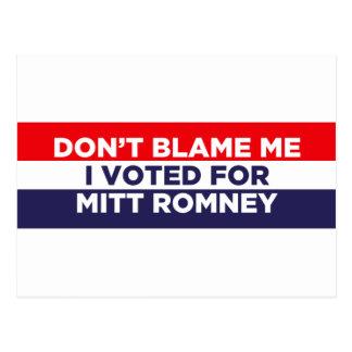 Don't Blame Me Postcard