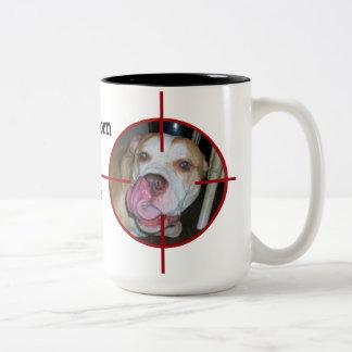 Don't Blame the Pitbull Two-Tone Coffee Mug