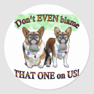 Dont blame US Classic Round Sticker