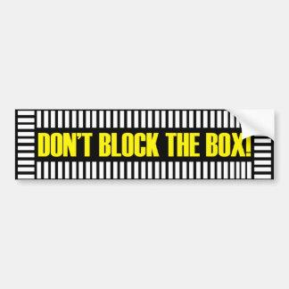 Don't Block the Box Bumper Sticker