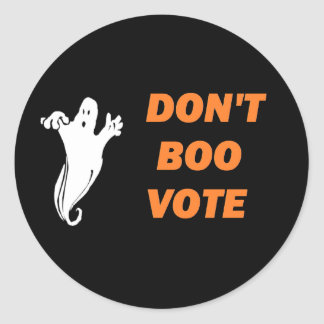 Don't Boo Vote! Stickers
