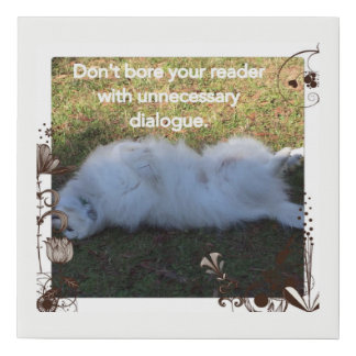 Don't Bore Your Reader Poster Faux Canvas Print