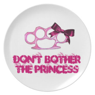DON'T BOTHER-KnuckleBow Melamine Plate