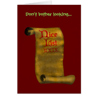 Don't bother looking... card