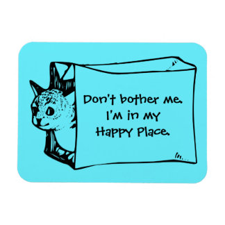 Don't Bother Me Cat in a Bag Sticker Magnet