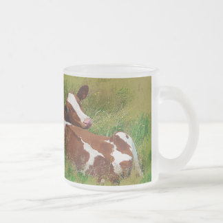 Don't Bother Me Cow 10 Oz Frosted Glass Coffee Mug