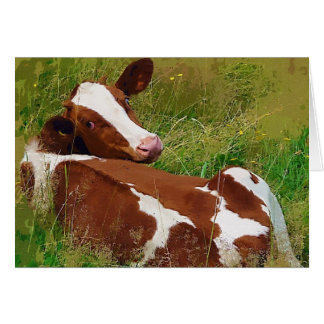 Don't Bother Me Cow Greeting Card