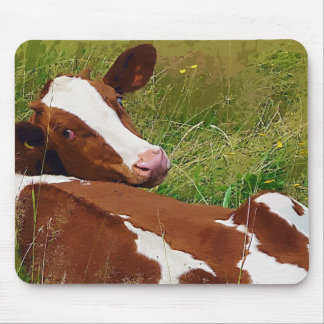 Don't Bother Me Cow Mouse Pad