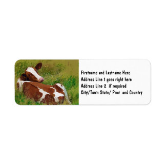 Don't Bother Me Cow Return Address Label