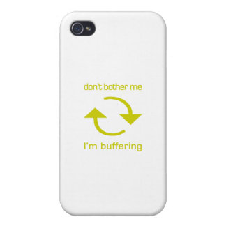 Don't Bother Me - I'm Buffering (yellow text) iPhone 4/4S Case