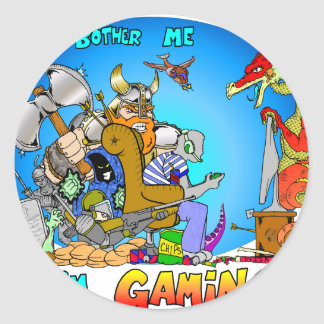 Don't Bother Me I'm Gaming Classic Round Sticker