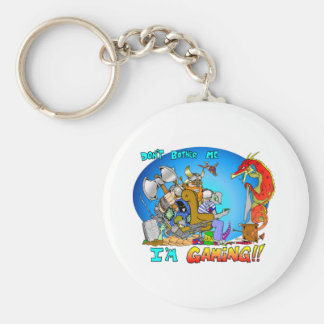 Don't Bother Me I'm Gaming Keychain