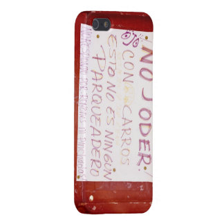 Dont Bother with cars this is no parking space iPhone 5 Covers
