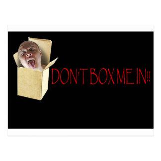 Don't box me in! postcard