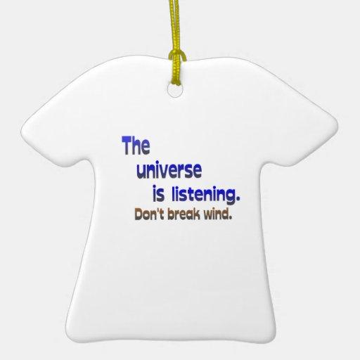 Don't Break Wind - Universe is Listening Ceramic Ornament