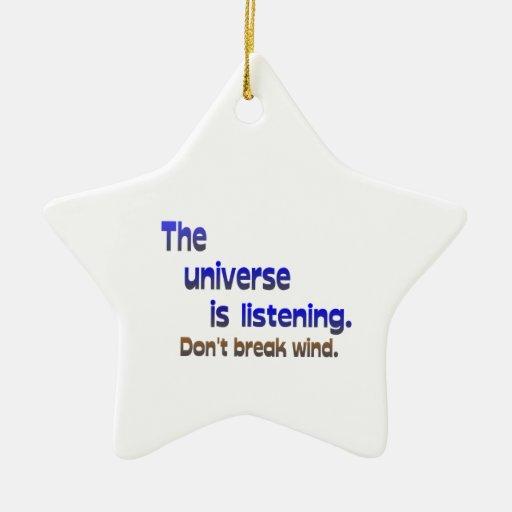 Don't Break Wind - Universe is Listening Christmas Tree Ornament