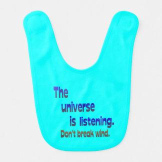 Don't Break Wind - Universe is Listening Baby Bib