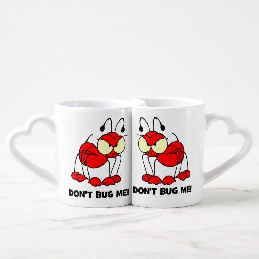 don't bug me couple mugs