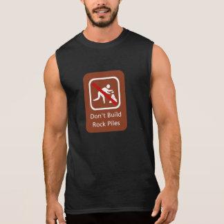 Don't Build Rock Piles, Sign, Hawaii, US Sleeveless Shirts