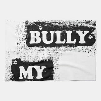 DON'T BULLY MY BREED SPLATS HAND TOWEL