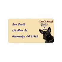 Don't Buy! Adopt Animal Avery Label
