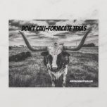 Don't Cali-Fornicate Texas Postcards