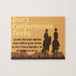 Don't Californicate Texas Puzzle