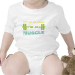 don't call me chubby I'm all muscle Baby Bodysuit