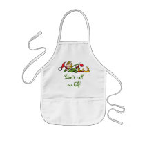 Don't Call Me Elf Gift Apron for Kids