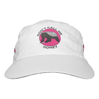 Don't Call Me Honey Honey Badger Pink Feminist Art Hat