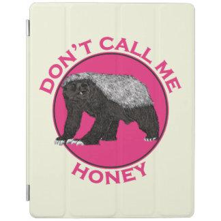 Don't Call Me Honey Honey Badger Pink Feminist Art iPad Smart Cover