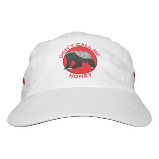Don't Call Me Honey, Honey Badger Red Feminist Art Hat