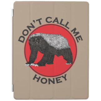 Don't Call Me Honey, Honey Badger Red Feminist Art iPad Smart Cover