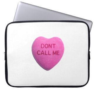 Dont Call Me Pink Candy Heart Computer Sleeve